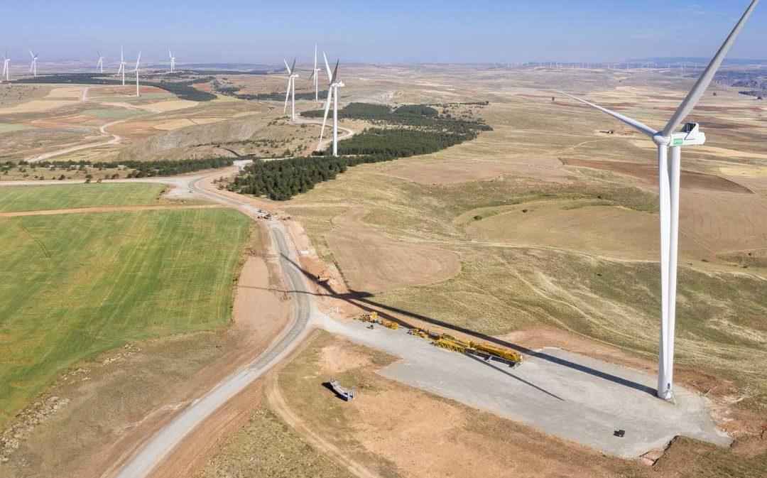 Conectado el mayor parque eólico de los que se construyen en Aragón