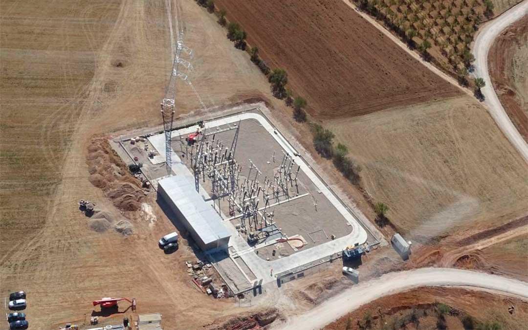 Parque eólico que construye Forestalia en Monforte de Moyuela.