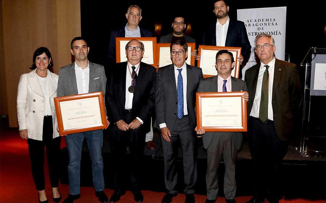 Impelte de La Puebla y Panel de Cata de Alcañiz, galardonados por la Academia Aragonesa de Gastronomía