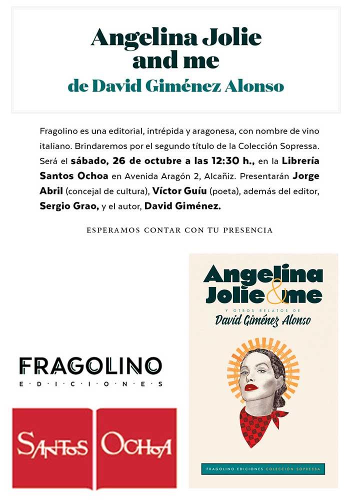"""Presentación del libro """"Angelina Jolie & me"""" en Santos Ochoa, Alcañiz"""
