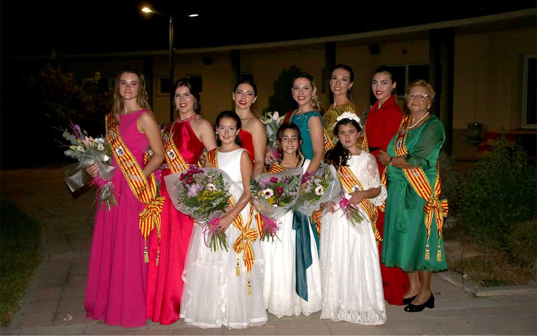 Las reinas de las fiestas en honor a la Virgen del Pilar serán las protagonistas en muchos de los actos del extenso programa festivo pensado para todas las edades./ Adrián Monserrate