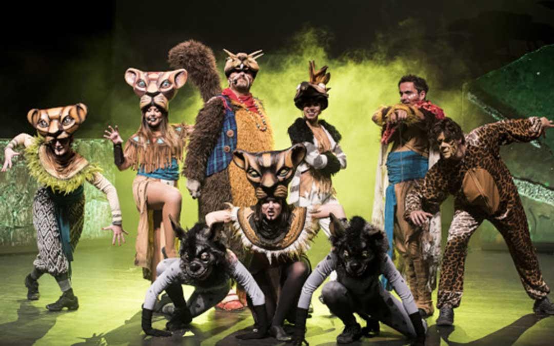 La compañía Onbeat representará 'El Rey León. El Tributo' el domingo en dos pases./ Onbeat