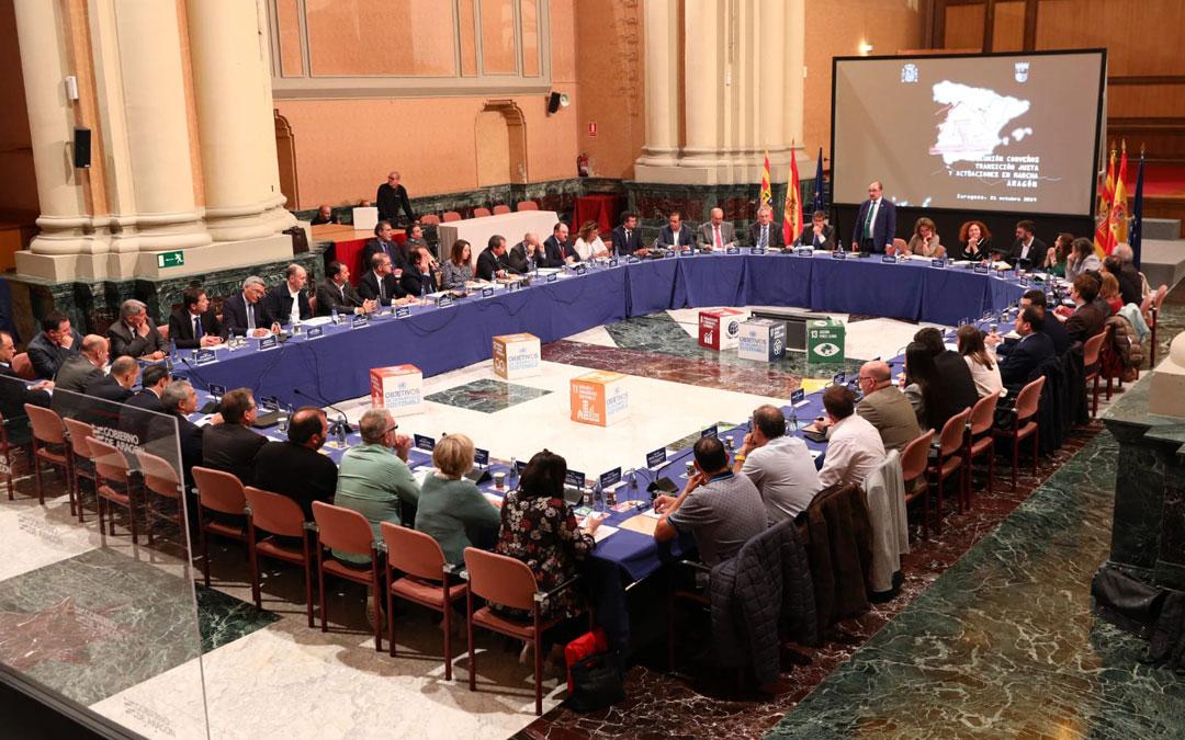 Reunión de Ribera en Zaragoza con DGA y agentes sociales y económicos sobre el plan de transición justa / DGA