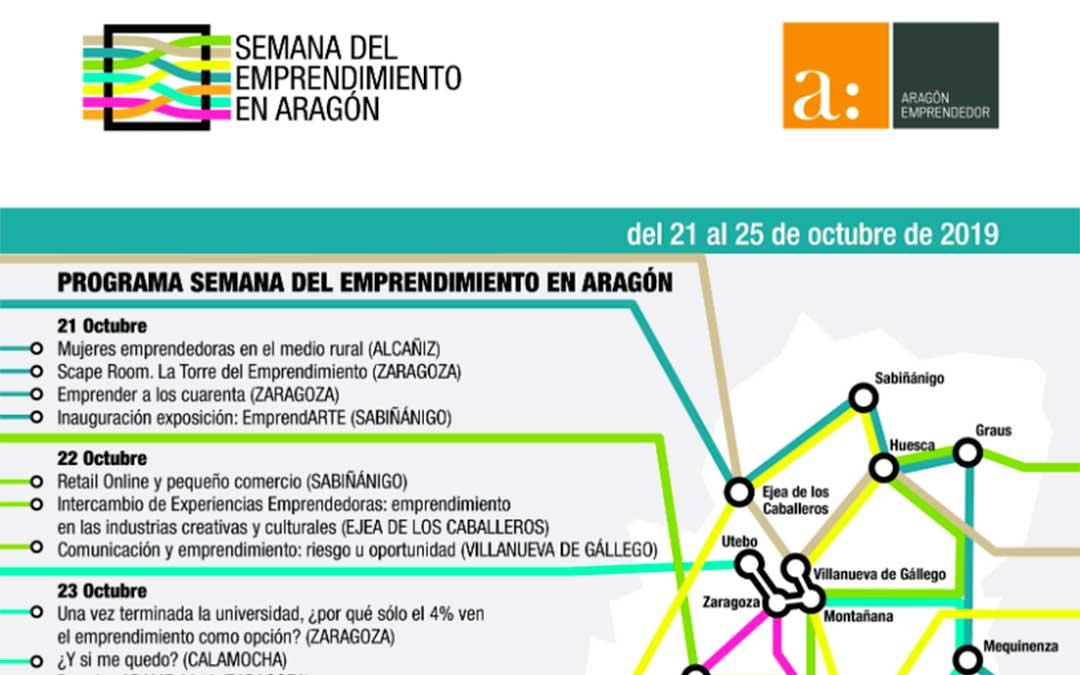 Parte de la programación de la 'Semana del Emprendimiento en Aragón'./ DGA