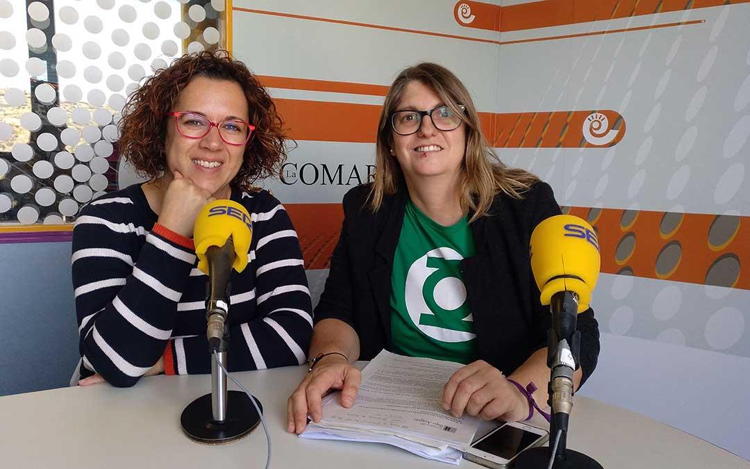 Eva Antolín y Susana Mene, del área de Servicios Sociales de la Comarca del Bajo Aragón.