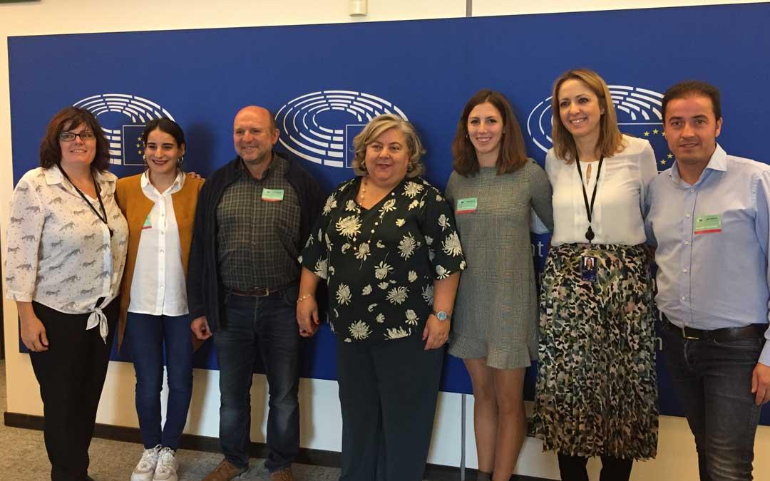 Representantes del SSPA que participaron en la cita celebrada en Bruselas