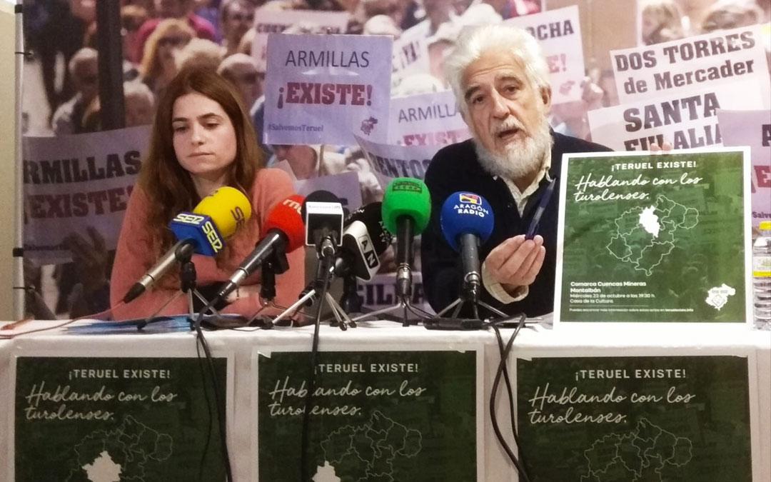 Alba Polo (Senado) y Manolo Gimeno (Congreso), este lunes en rueda de prensa
