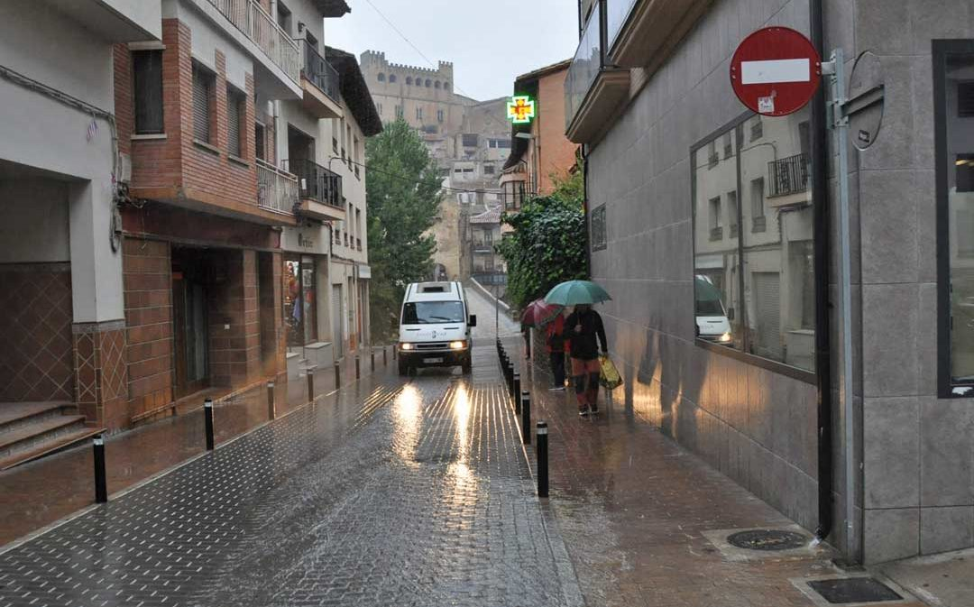 La DANA afecta de pleno al territorio y deja lluvias abundantes en todo el Bajo Aragón Histórico