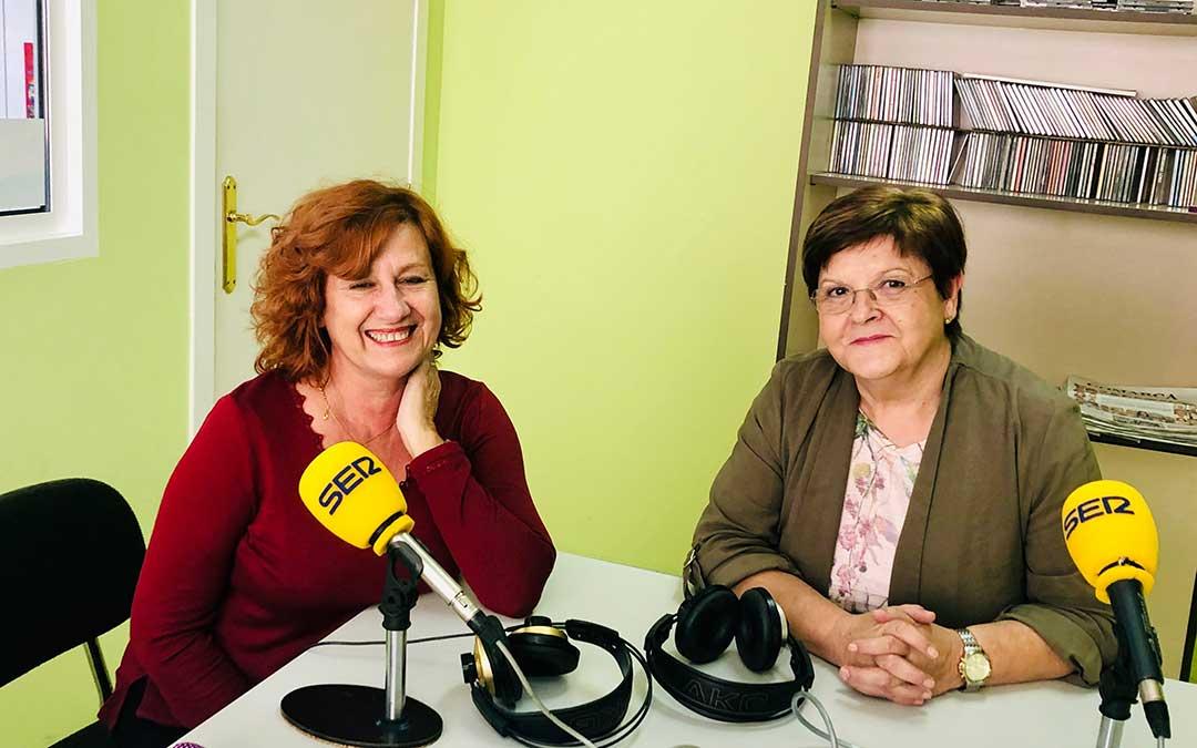 Elise Ventura y Pilar Mustieles.