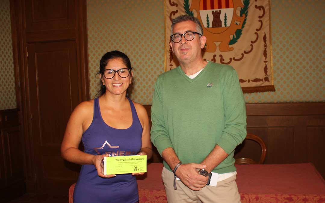 Kathy León ha presentado la masterclass en rueda de prensa con el concejal de Deportes, Kiko Lahoz / L. Castel