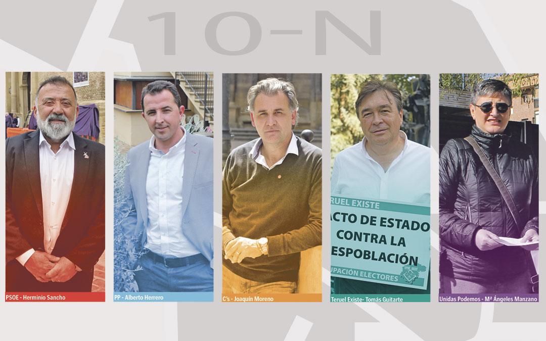 La despoblación, la transición justa  y la A-68; principales temas de la campaña en Teruel