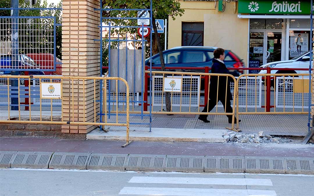 Acceso al parque infantil de la Avenida Aragón./ Ayuntamiento de Alcañiz
