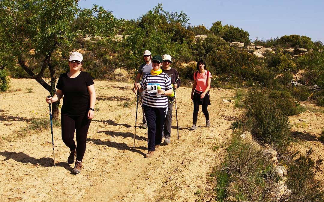 Algunos de los participantes de la última andada en Maella.