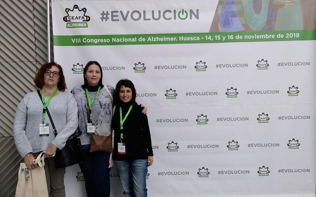 Representantes de AFEDABA-Los Calatravos durante el congreso./ Yolanda Garcés