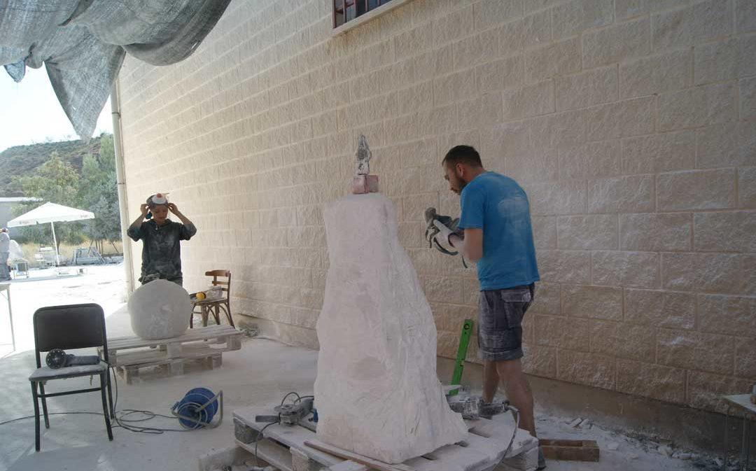 Albalate acoge desde este lunes el XII Simposio de Escultura en Alabastro