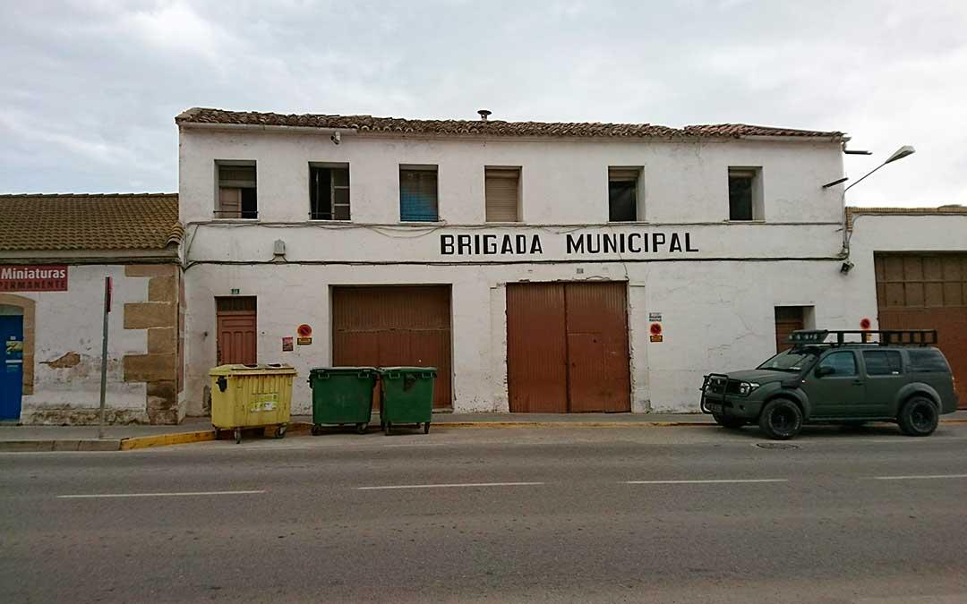 Imagen del antiguo almacén municipal de Caspe.