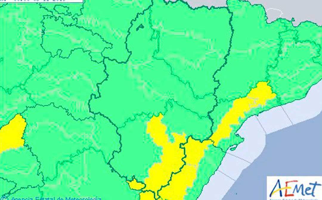 Aviso amarillo por vientos este martes en el Maestrazgo