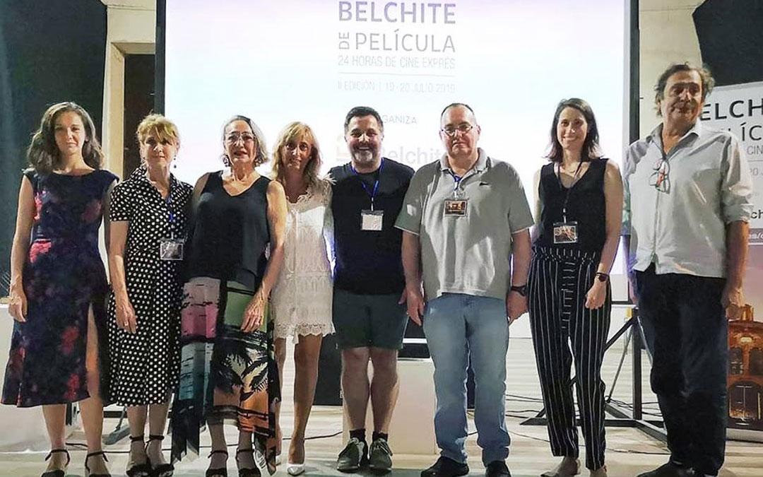 El Centro de Estudios del Bajo Martín estuvo presente en el jurado de 'Belchite de película', este verano. / Facebook J.A. Guimerá