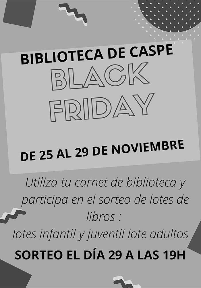 Black Friday en la biblioteca de Caspe