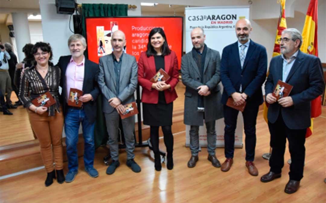 Presentación de las películas aragonesas que optan a un Goya, con el Director General Víctor Lucea.