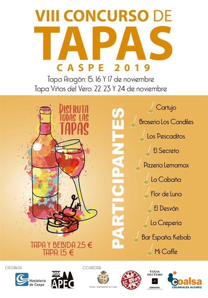 VIII Concurso de Tapas en Caspe 2019