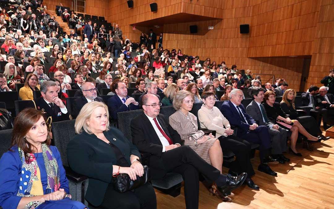 Doña Sofía y Javier Lambán también asistieron a este encuentro, celebrado en Huesca./ DGA
