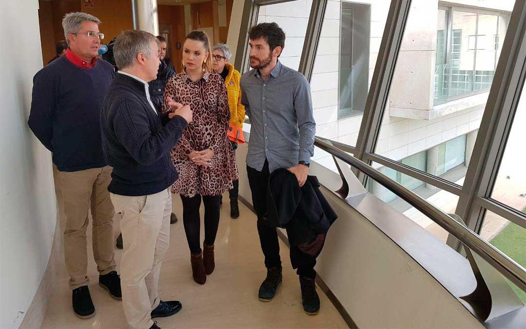 Visita de la consejera Maru Díaz al campus de Teruel./ DGA