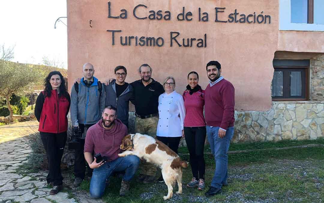 Equipo de 'Senderos del mundo' en Teruel