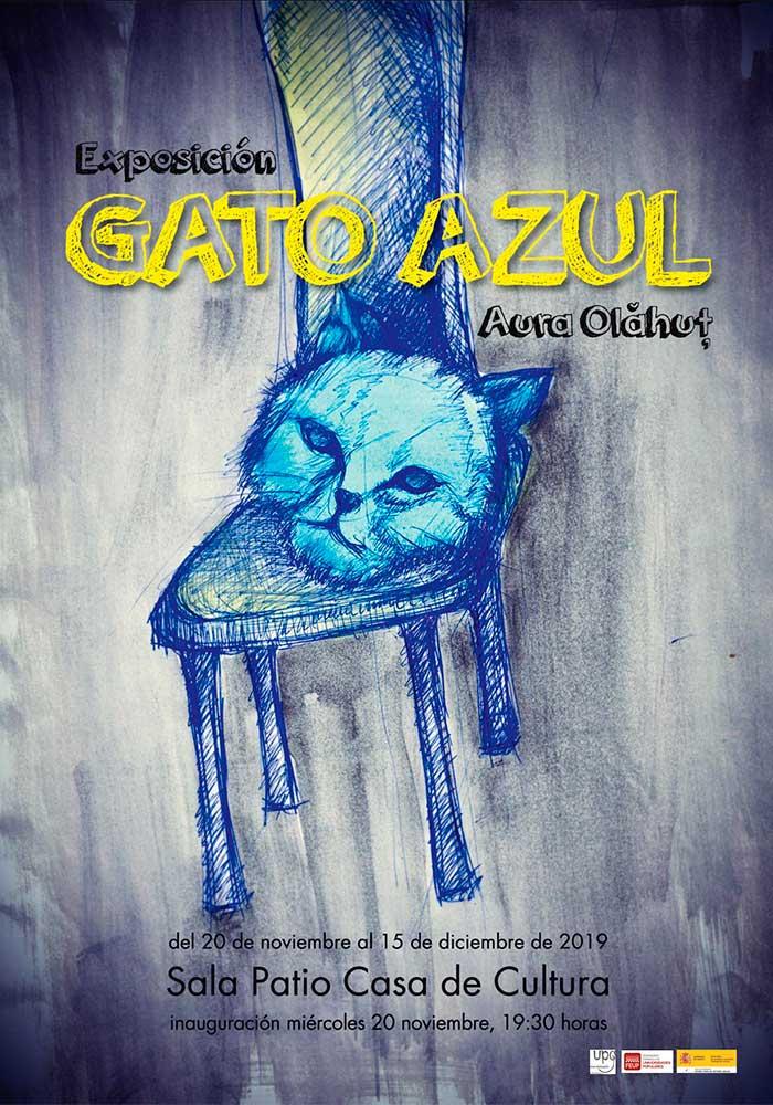 Exposición de Aura Olahut 'Gato Azul' en Andorra