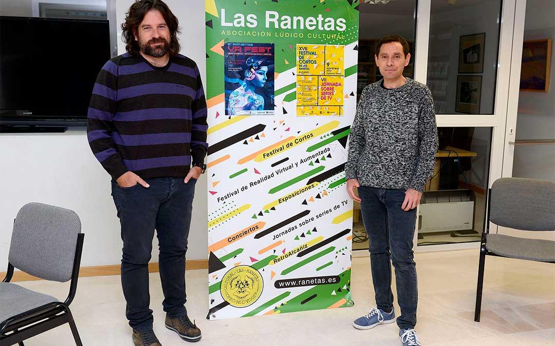 De izqda. a dcha., Jorge Abril y Toñín Lizana./ Ayuntamiento de Alcañiz