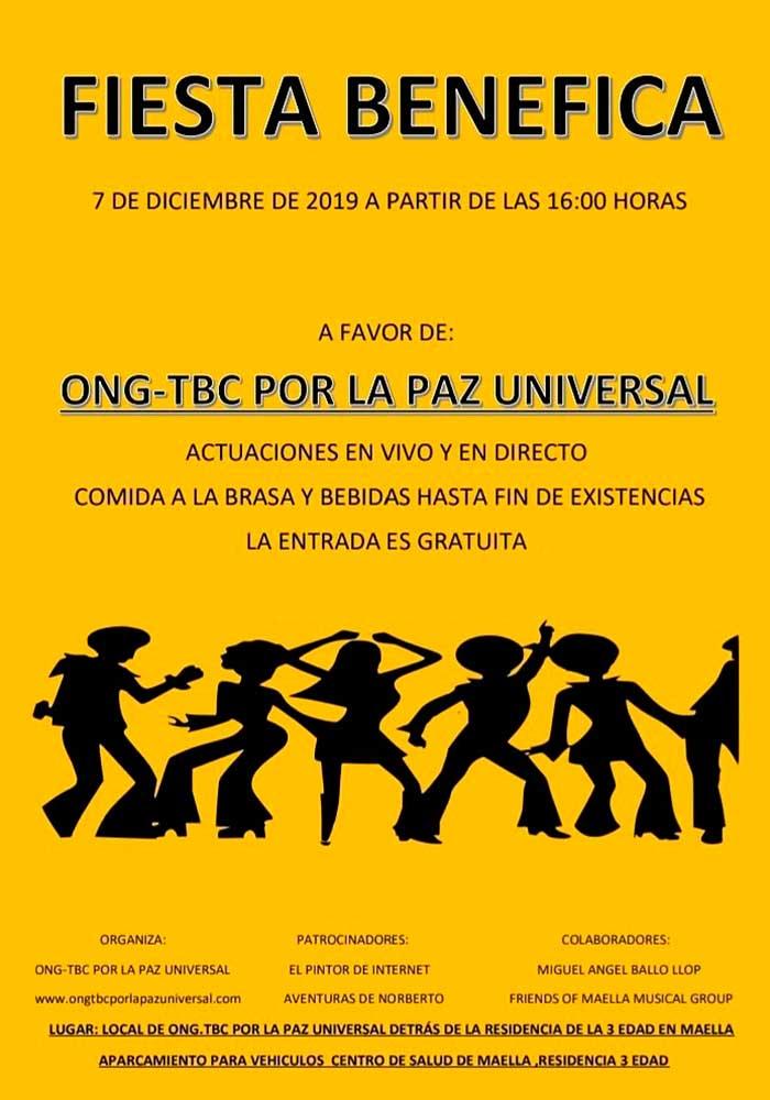 Fiesta benéfica por la paz universal en Maella