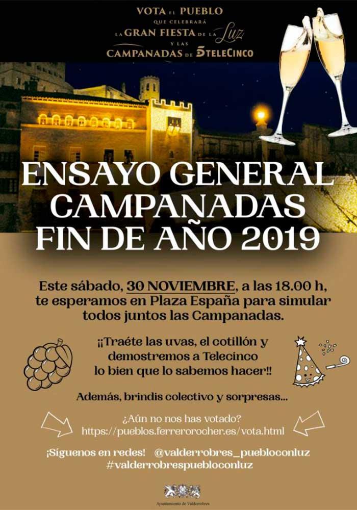 Ensayo General de las Campanadas de Fin de Año 2019 en Valderrobres