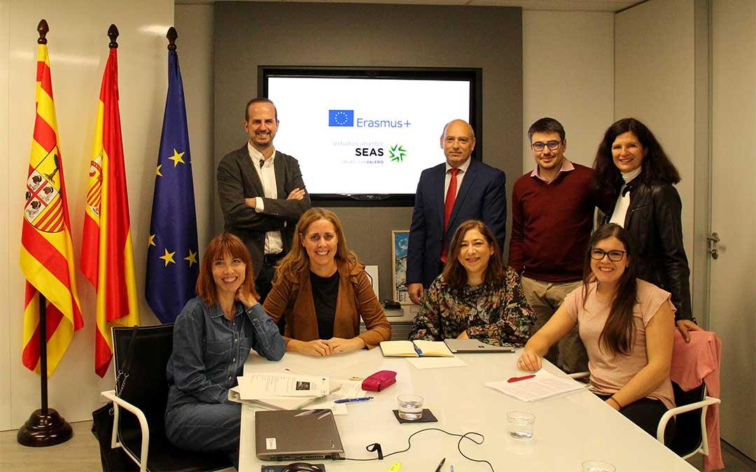 Reunión mantenida en el marco del proyecto 'RURAL NEEDS & MOBILE LEARNING' incluido en el programa ERASMUS +