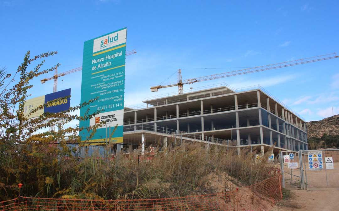Obras del nuevo Hospital de Alcañiz, paralizadas desde hace más de un año / L. Castel