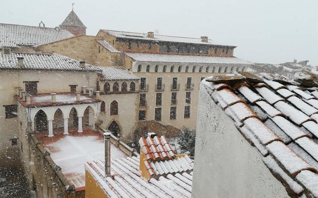 El frente frío deja nieve en el Maestrazgo y Cuencas Mineras a partir de 1.100 metros de altitud