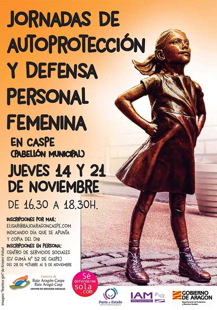 Jornadas de autoprotección y defensa personal femenina en Caspe