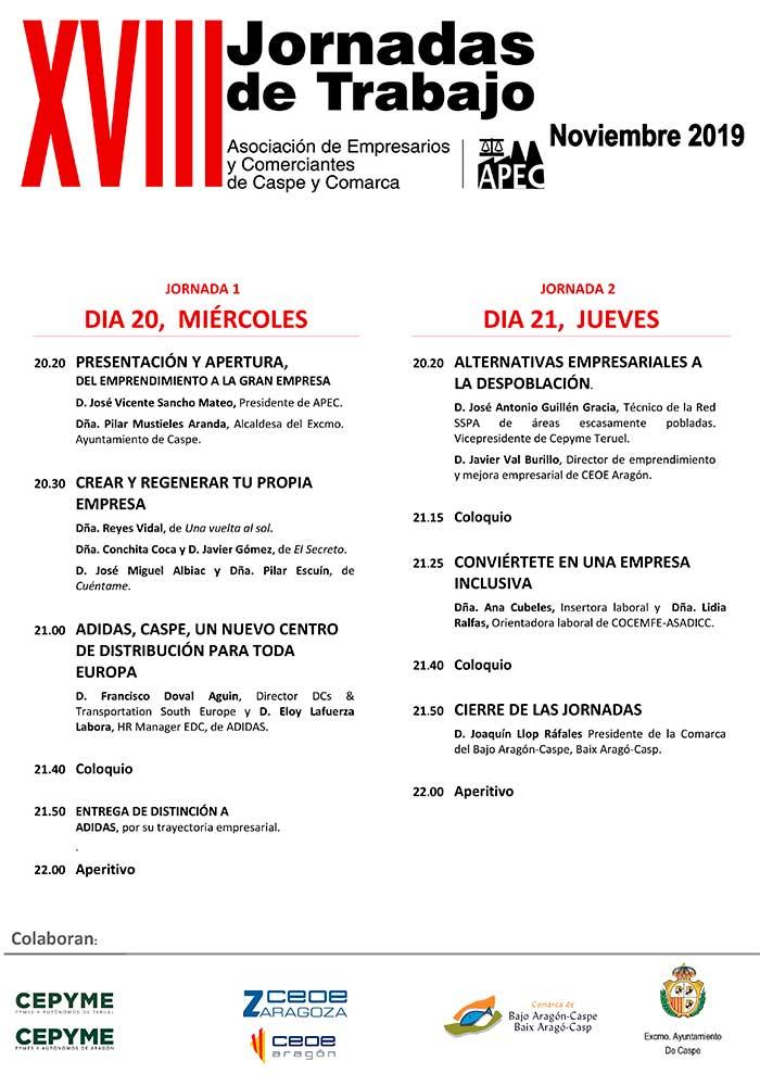 XVIII Jornadas de Trabajo de APEC en Caspe