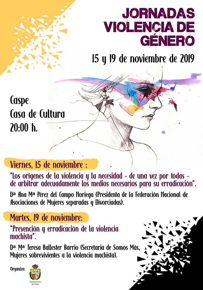 Jornada de prevención y erradicación de la violencia machista en Caspe