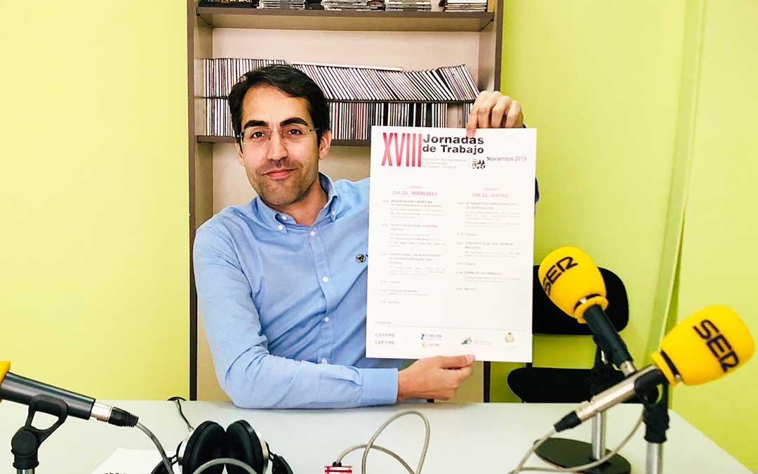 José Vicente Sancho es el presidente de la Asociación de Comerciantes y Empresarios de Caspe y Comarca (APEC)