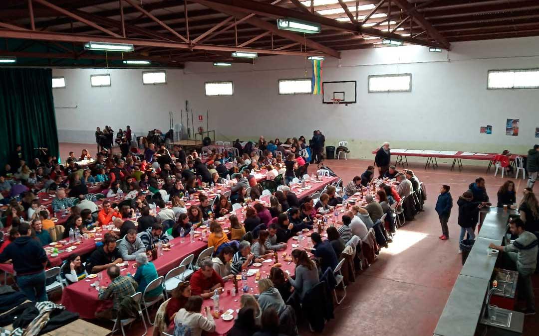 Comida popular durante la jornada del sábado./ Rural Mineras