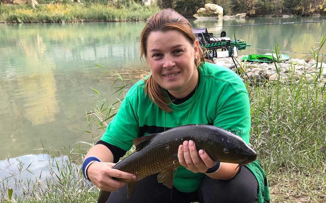 La alcañizana María José Martínez se proclama Campeona de Aragón de Pesca Agua Dulce Damas
