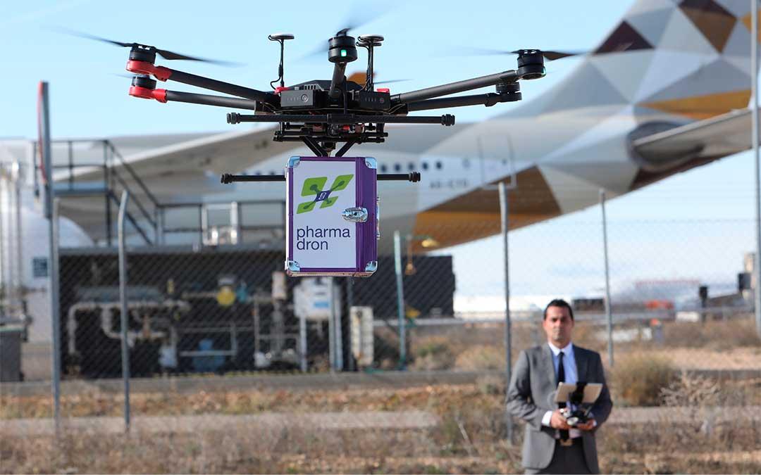 En esta primera fase se ha desarrollado un vuelo experimental entre el Aeropuerto de Teruel y Gea de Albarracín. / Javier Escriche