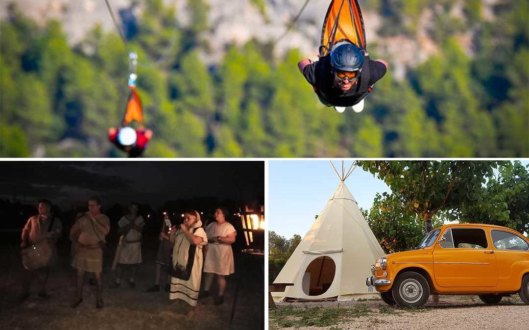 El cabo de Andorra, la tirolina de Fuentespalda y el Camping el Roble de Valderrobres compiten por ser la Mejor Experiencia Turística de Aragón
