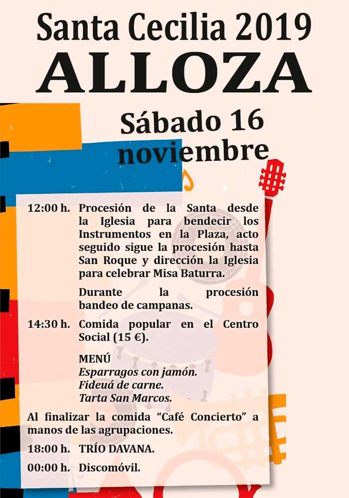 Santa Cecilia 2019 en Alloza