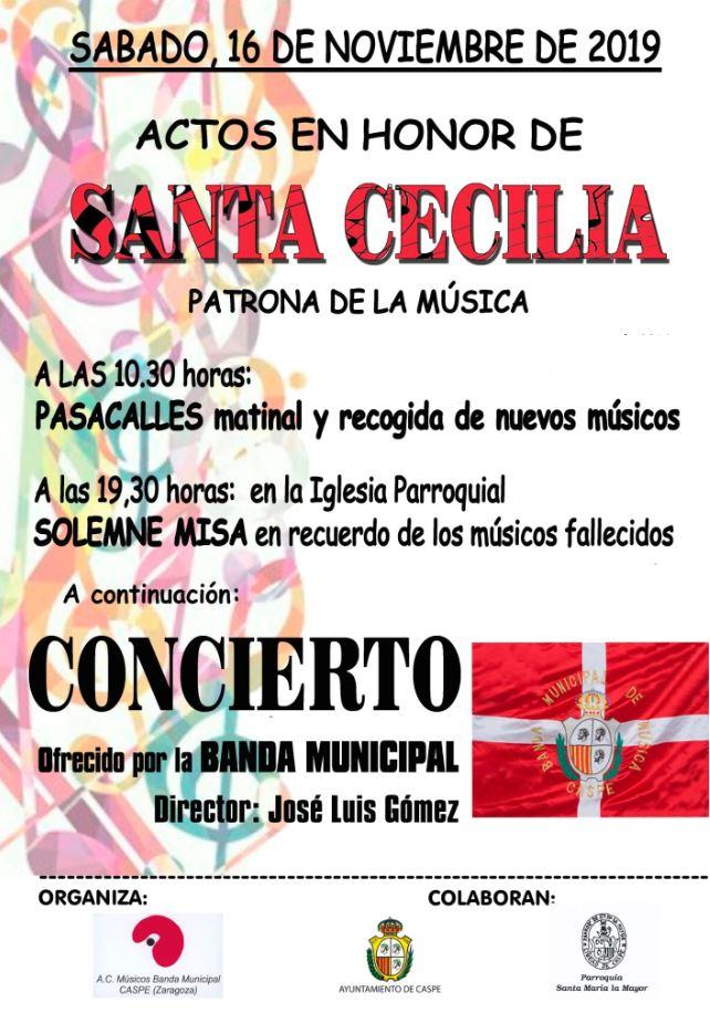 Santa Cecilia en Caspe 2019