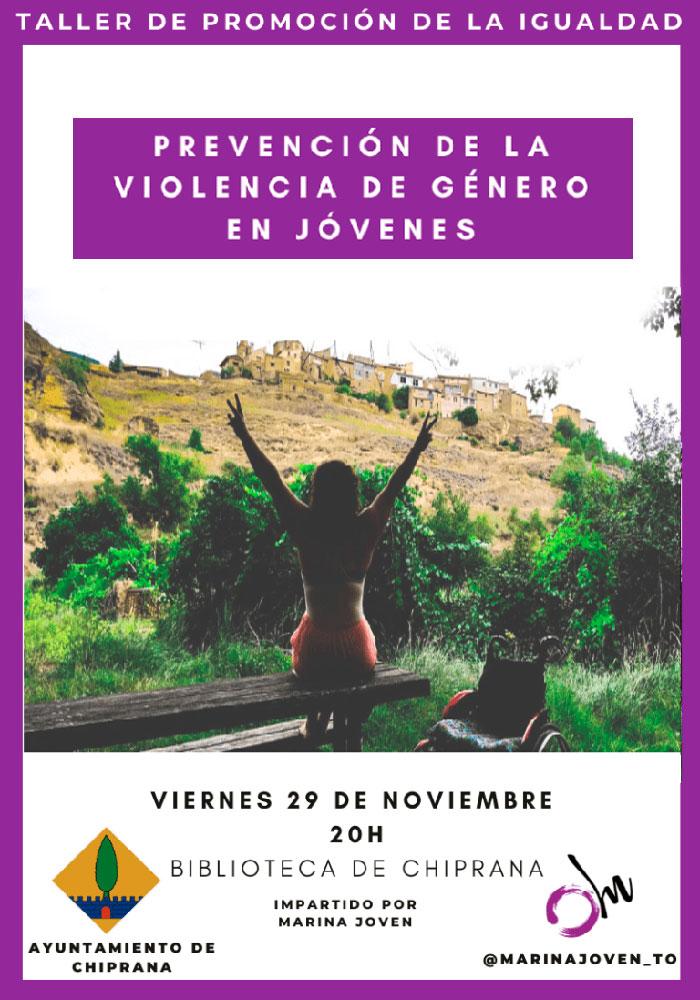 Taller de Prevención de la violencia de género en jóvenes en Chiprana