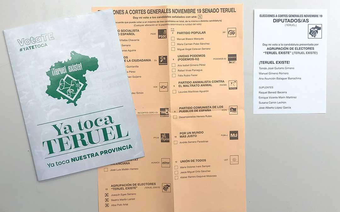 Teruel Existe irrumpe con fuerza en el Maestrazgo y gana en Castellote