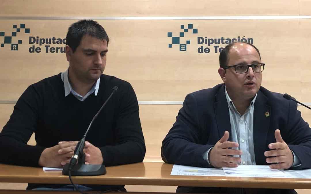 Alberto Izquierdo y José Salvador este miércoles durante la presentación del Plan. LA COMARCA