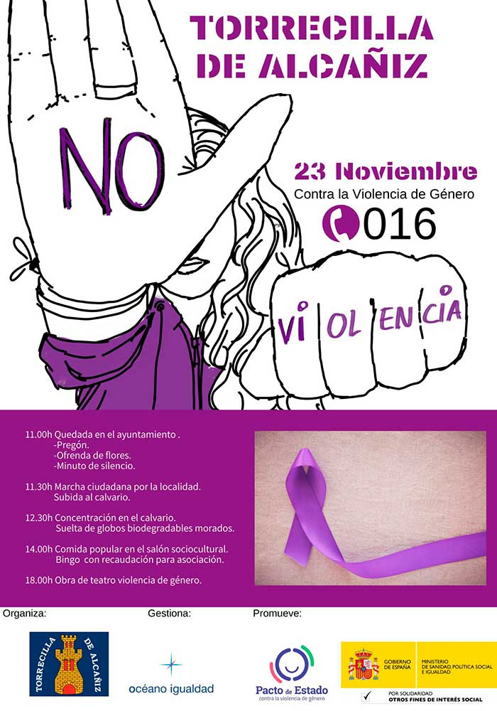 Jornada contra la violencia de género en Torrecilla de Alcañiz