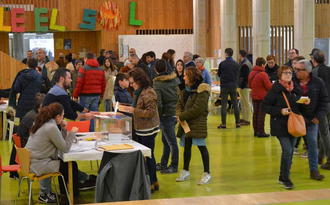 Cae 3 puntos y medio la participación en Teruel respecto a las elecciones de abril